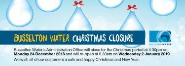 Christmas closures 2018